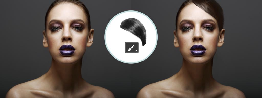 Baukasten-Haarpinsel-Frau