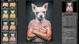 "Morph me to a dog with photoshop ""Speedtraining"""